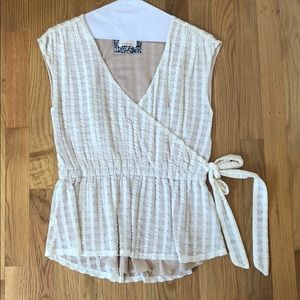Anthropologie Blouse with Tie